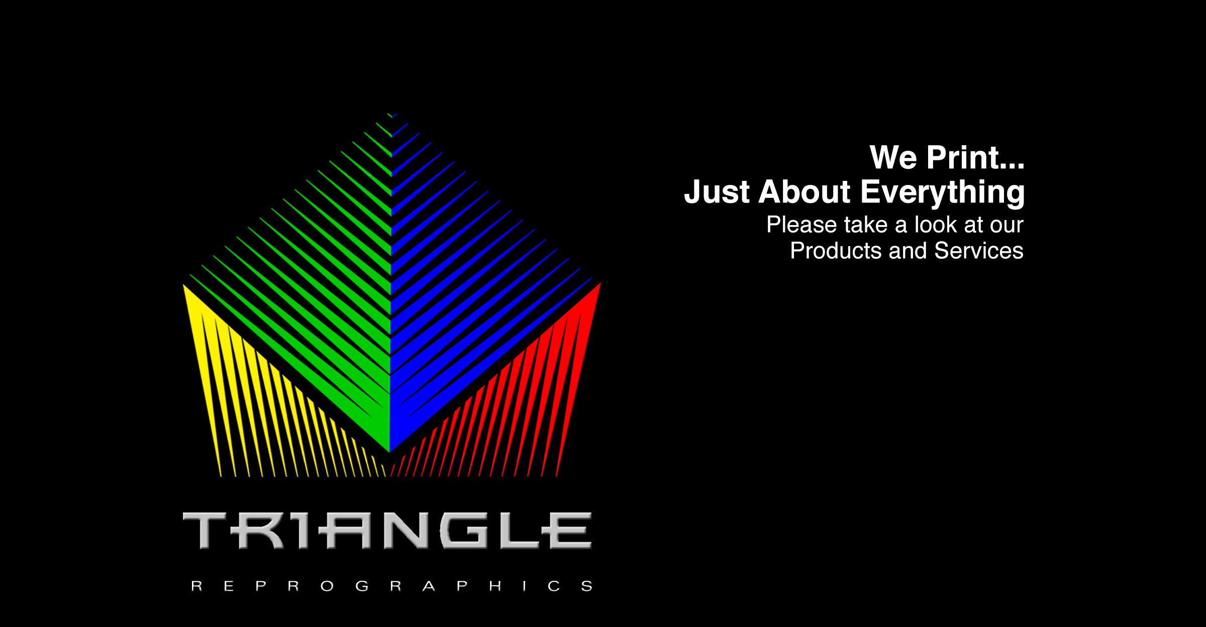 Triangle Reprographics Logo and Tag line - We Print Just About Everything