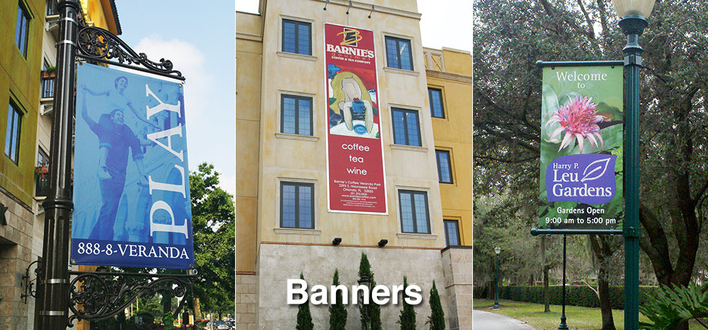 Color Pole Banners and Building side Banners