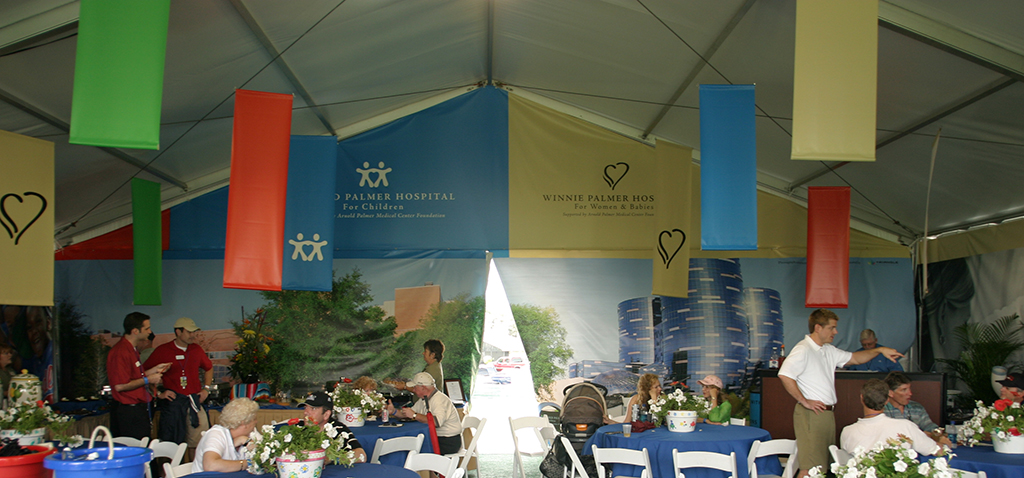 Golf Hospitality Tent Printed Tent Panels