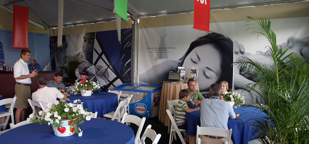 Golf Hospitality Printed Tent Panels