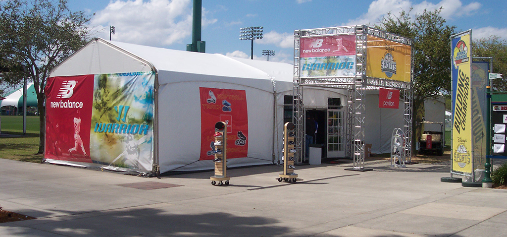 New Balance Retail Tent Printed Tent Panels