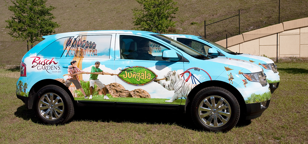 SUV Wrap Vehicle Graphic - Jungala