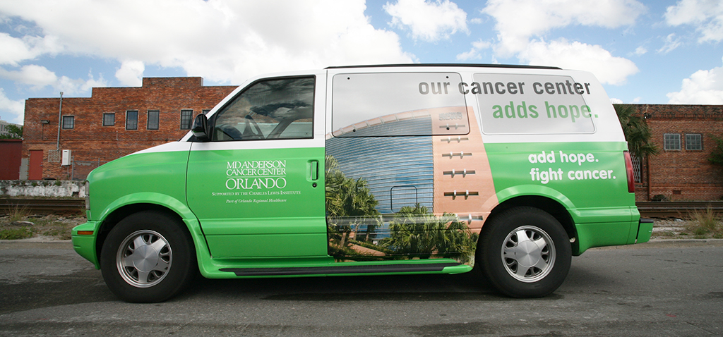 Van Wrap Vehicle Graphic - Cancer Center